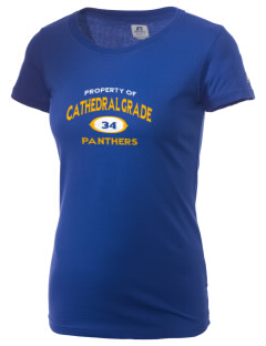Cathedral Grade School Panthers  Russell Women's Campus T-Shirt