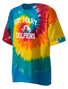 Saint Mary Elementary School Dolphins Kid's Tie-Dye T-Shirt