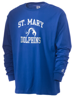 Saint Mary Elementary School Dolphins  Russell Men's Long Sleeve T-Shirt
