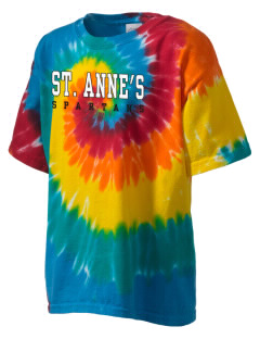 Saint Anne's School Spartans Kid's Tie-Dye T-Shirt