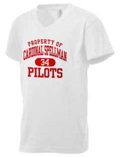 Cardinal Spellman High School Pilots Kid's V-Neck Jersey T-Shirt