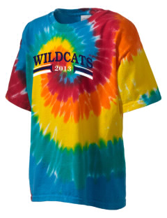 St. Nicholas of Tolentine High School Wildcats Kid's Tie-Dye T-Shirt
