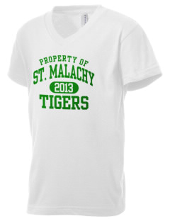 Saint Malachy Elementary School Tigers Kid's V-Neck Jersey T-Shirt