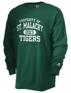 Saint Malachy Elementary School Tigers  Russell Men's Long Sleeve T-Shirt