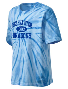 Helena Dyer Elementary School Dragons Kid's Tie-Dye T-Shirt