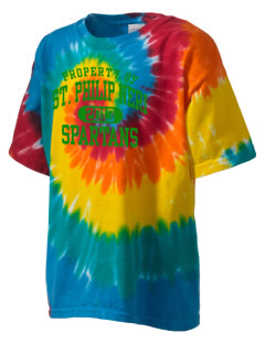 Saint Philip Neri School Spartans Kid's Tie-Dye T-Shirt