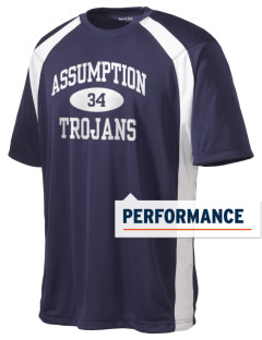Assumption School Trojans Men's Dry Zone Colorblock T-Shirt