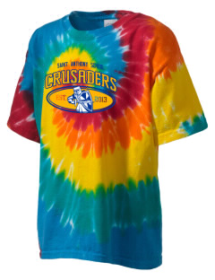 Saint Anthony School Crusaders Kid's Tie-Dye T-Shirt