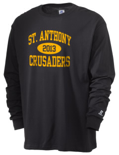 Saint Anthony School Crusaders  Russell Men's Long Sleeve T-Shirt