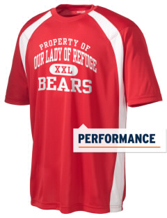 Our Lady Of Refuge School Bears Men's Dry Zone Colorblock T-Shirt