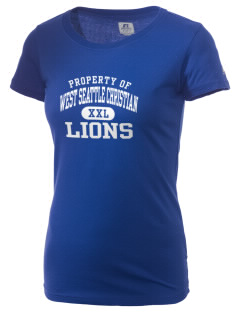 West Seattle Christian School Lions  Russell Women's Campus T-Shirt