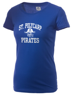 Saint Polycarp Elementary School Pirates  Russell Women's Campus T-Shirt
