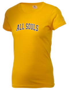 All Souls School Bobcats  Russell Women's Campus T-Shirt