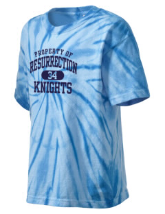 Resurrection Catholic School Knights Kid's Tie-Dye T-Shirt