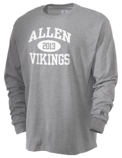 Allen Elementary School Vikings  Russell Men's Long Sleeve T-Shirt