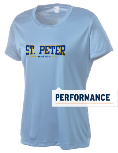 Saint Peter School Bobcats Women's Competitor Performance T-Shirt