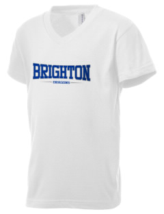 Brighton Elementary School Dragons Kid's V-Neck Jersey T-Shirt