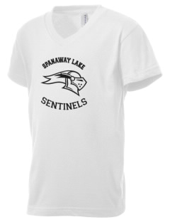 Spanaway Lake High School Sentinels Kid's V-Neck Jersey T-Shirt