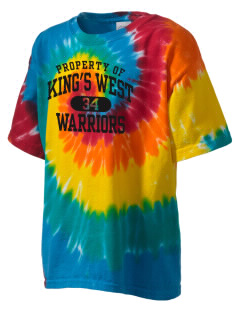 King's West School Warriors Kid's Tie-Dye T-Shirt