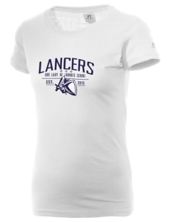 Our Lady Of Lord Saint James School Lancers  Russell Women's Campus T-Shirt