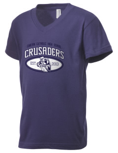 Canevin Catholic High School Crusaders Kid's V-Neck Jersey T-Shirt