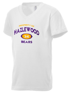 Hazlewood Elementary School Bears Kid's V-Neck Jersey T-Shirt