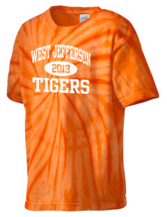 West Jefferson School Tigers Kid's Tie-Dye T-Shirt
