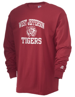 West Jefferson School Tigers  Russell Men's Long Sleeve T-Shirt