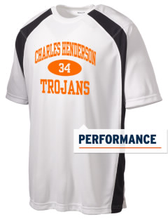 Charles Henderson Middle School Trojans Men's Dry Zone Colorblock T-Shirt