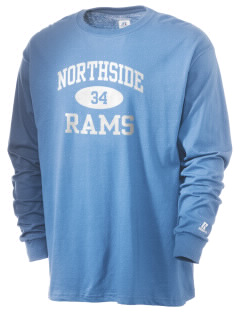 Northside High School Rams  Russell Men's Long Sleeve T-Shirt