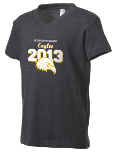 Victory Baptist Academy Eagles Kid's V-Neck Jersey T-Shirt