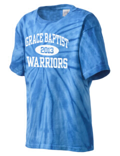 Grace Baptist Academy Warriors Kid's Tie-Dye T-Shirt