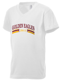 Grace Academy Golden Eagles Kid's V-Neck Jersey T-Shirt