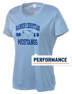 Rainier Christian Middle School Mustangs Women's Competitor Performance T-Shirt
