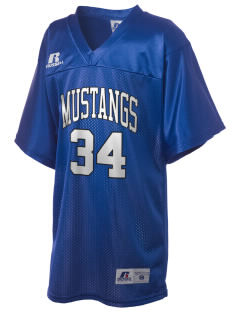 Rainier Christian Middle School Mustangs Russell Kid's Replica Football Jersey