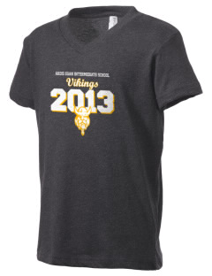 Ardis Egan Intermediate School Vikings Kid's V-Neck Jersey T-Shirt