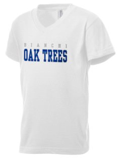 Bianchi Elementary School Oak Trees Kid's V-Neck Jersey T-Shirt