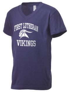 First Lutheran School Vikings Kid's V-Neck Jersey T-Shirt