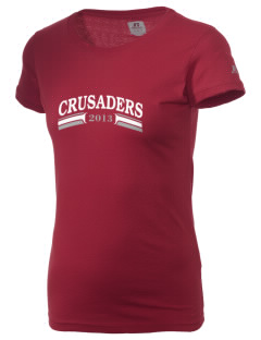 Village Christian Schools Crusaders  Russell Women's Campus T-Shirt