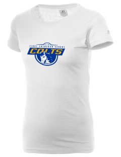 First Lutheran School Colts  Russell Women's Campus T-Shirt