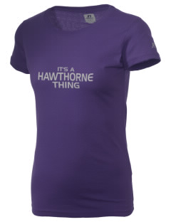 Hawthorne Academy Bridges  Russell Women's Campus T-Shirt