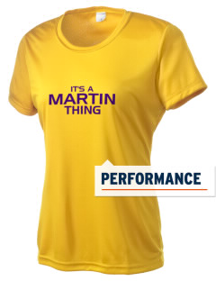 Martin High School Purple Flash Women's Competitor Performance T-Shirt