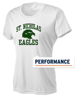 Saint Nicholas Catholic School Eagles Women's Competitor Performance T-Shirt