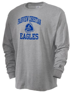 Fairview Christian School Eagles  Russell Men's Long Sleeve T-Shirt
