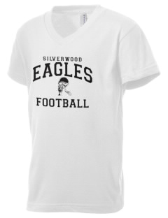 Silverwood School Eagles Kid's V-Neck Jersey T-Shirt