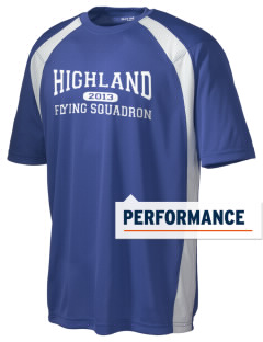 Highland Home School Flying Squadron Men's Dry Zone Colorblock T-Shirt