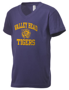 Valley Head School Tigers Kid's V-Neck Jersey T-Shirt