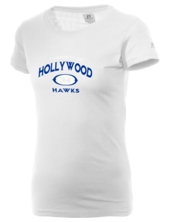 Hollywood Elementary School Hawks  Russell Women's Campus T-Shirt