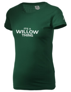 Willow Elementary School Wolverines  Russell Women's Campus T-Shirt