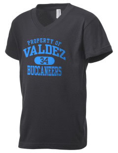 Valdez High School Buccaneers Kid's V-Neck Jersey T-Shirt